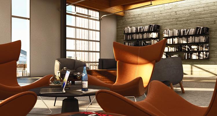 Building E - Interior Seating Area