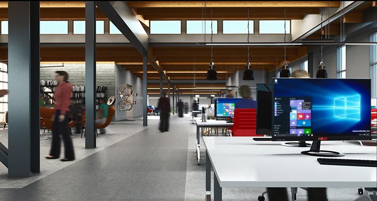 Building E - interior office